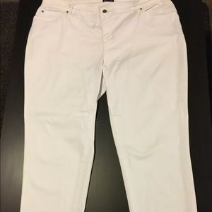 Eileen Fisher Plus Size White Ankle Jeans 🕊